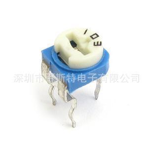 深圳厂家直销可调电阻/合成碳膜可调电阻/(兰)蓝白可调电阻