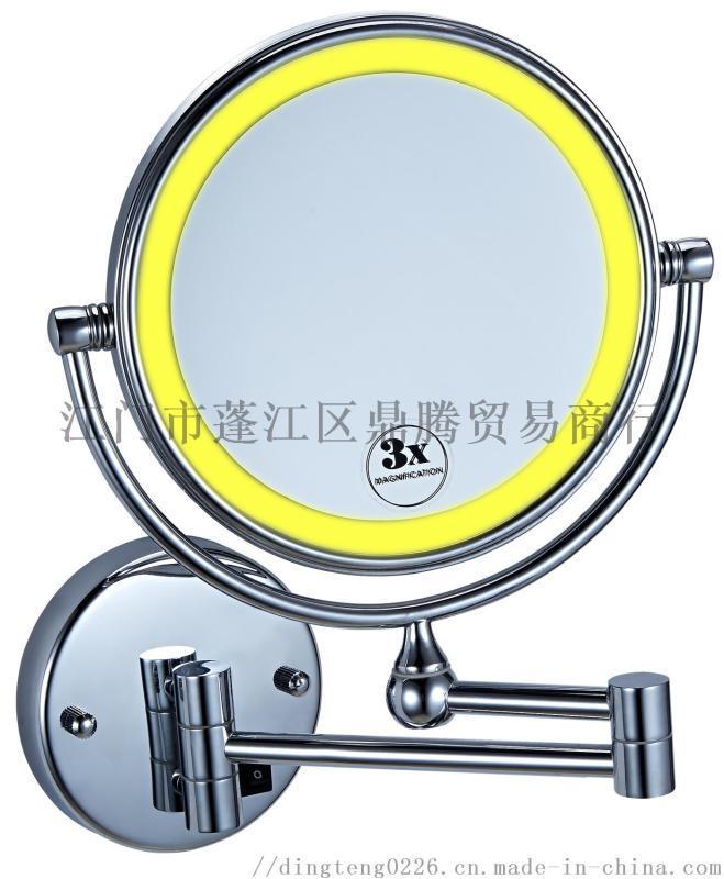 可折叠挂墙式双面圆镜化妆美容镜