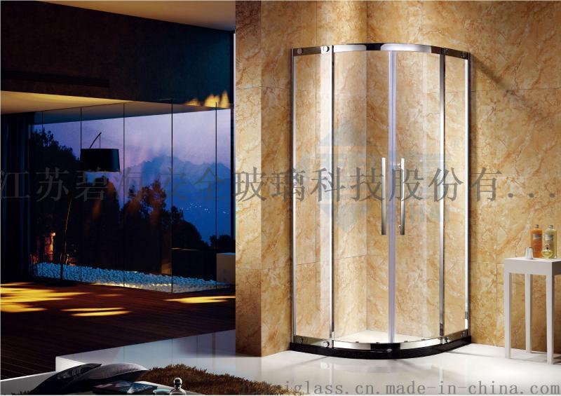 简易淋浴房 厂家直销家用工程卫生间扇形钢化玻璃淋浴房