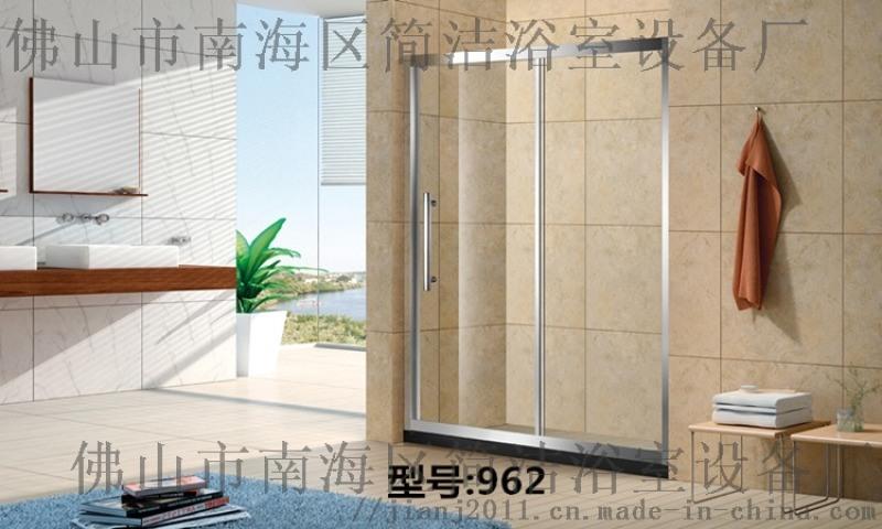 304不锈钢钢化玻璃淋浴房 广东佛山简洁962淋浴房