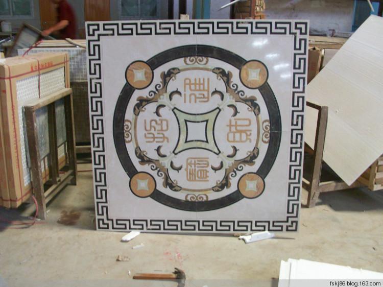 深圳专业水刀定做客厅玄关过道阳台陶瓷拼花
