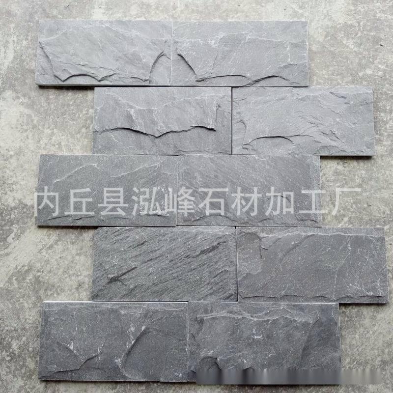 米灰色文化石 文化砖 仿古外墙瓷砖 灰色天然大理石文化石厂家