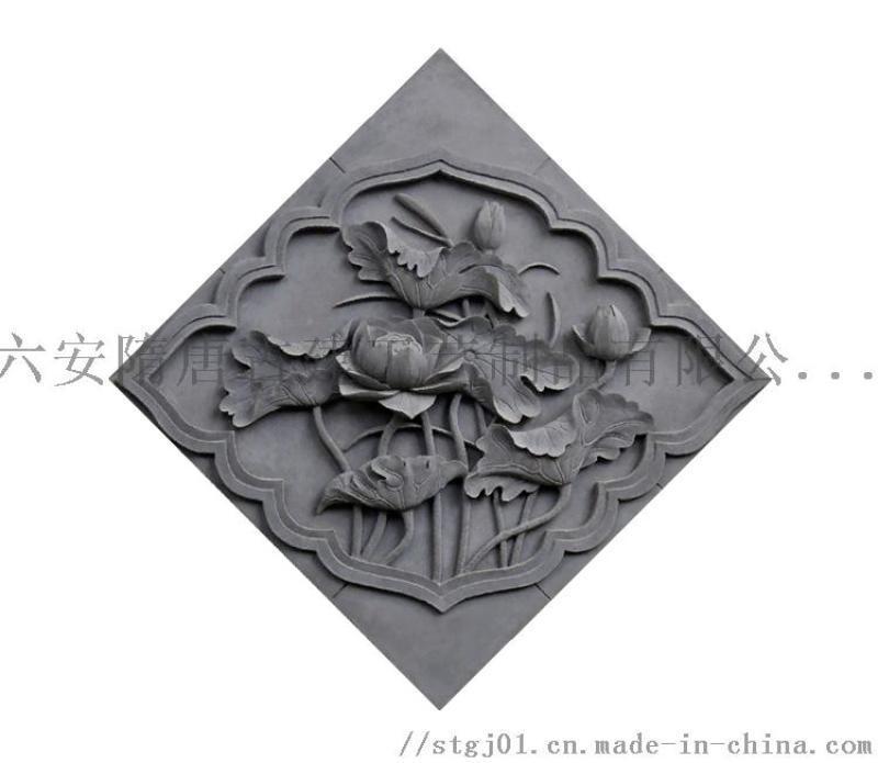 隋唐古建砖雕壁画、影壁墙、门楼、徽州砖雕
