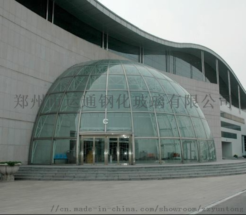 郑州6+6弯钢夹胶钢化玻璃