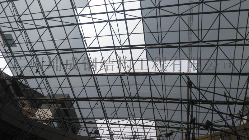 车站、商场广州大空间中庭网架玻璃采光顶设计