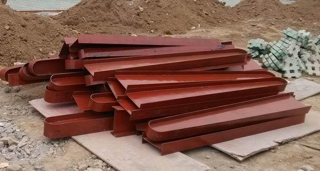 1-6米变截面钢梁点式玻璃雨棚设计、安装