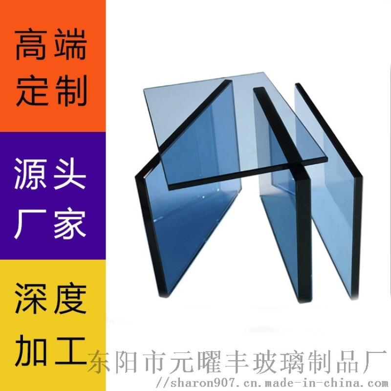 义乌彩色镀膜玻璃 炫彩可定制建筑家居工艺品镀膜玻璃