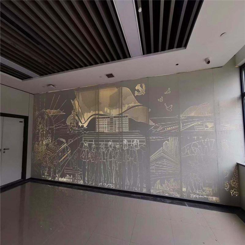 背景墙造型透光穿孔铝板 透光不规则穿孔铝单板用途