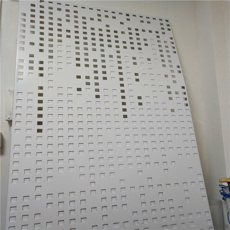 科技室背景墙造型穿孔铝板 吊顶不规则圆孔铝单板特点