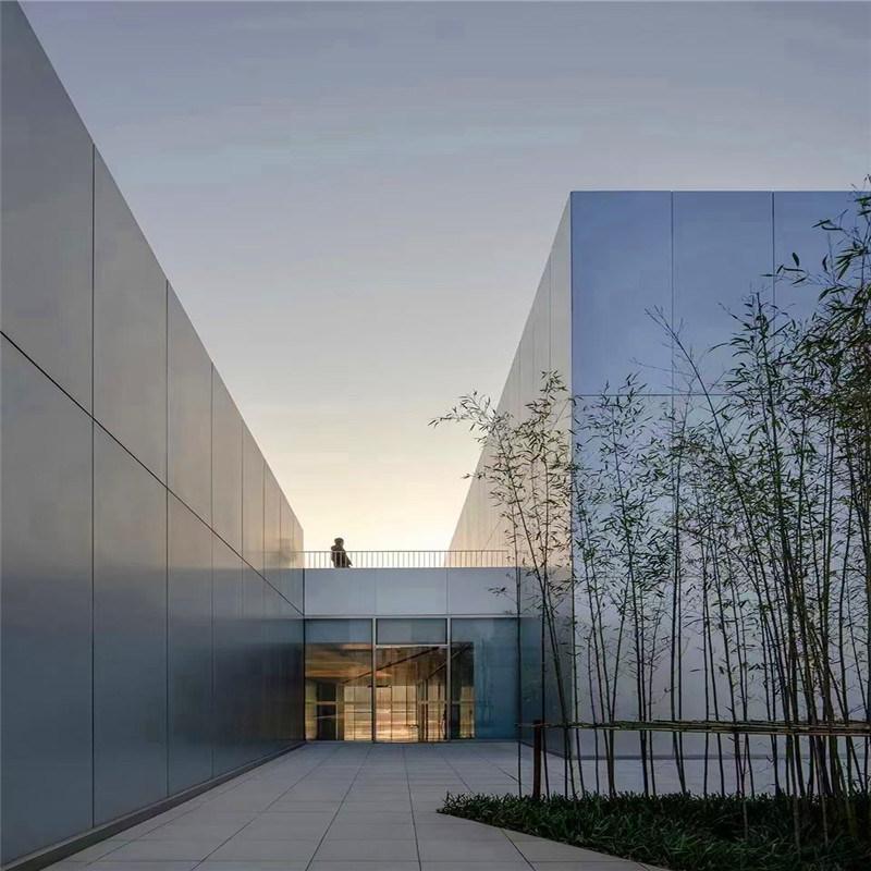 深灰色外墙烤漆铝单板 灰色外墙包边铝单板特点