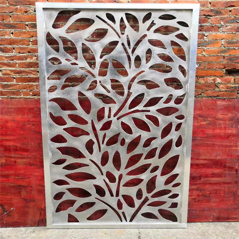 叶子造型雕花铝单板 圆孔雕花铝单板图案效果