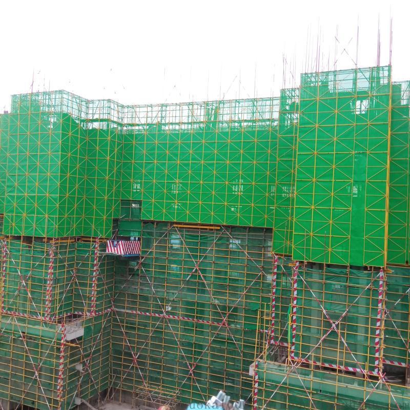 全钢爬架网网片 米字型焊框安全网 带框圆孔安全网