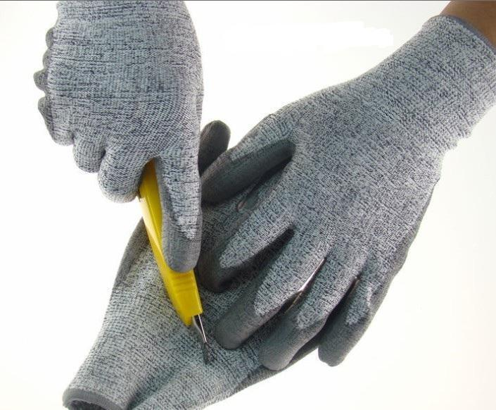 【百安品牌】厂家供应迪耐码PU防静电手套,