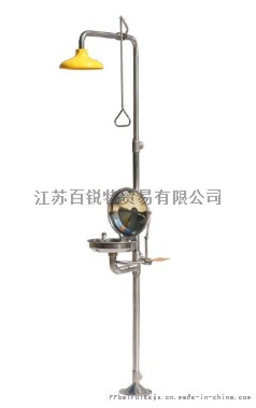 BTF12 复合式不锈钢翻盖盆洗眼器