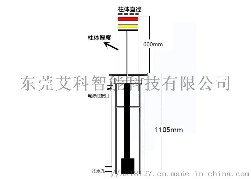 液压升降柱 艾科城创升降柱 全自动升降柱