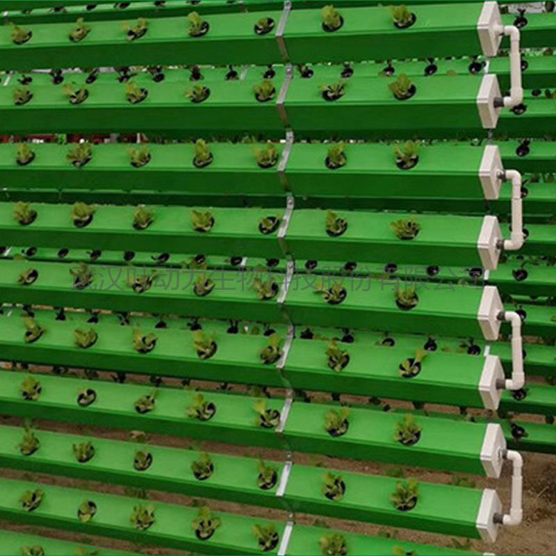 水培温室垂直种植蔬菜异型管道无土栽培