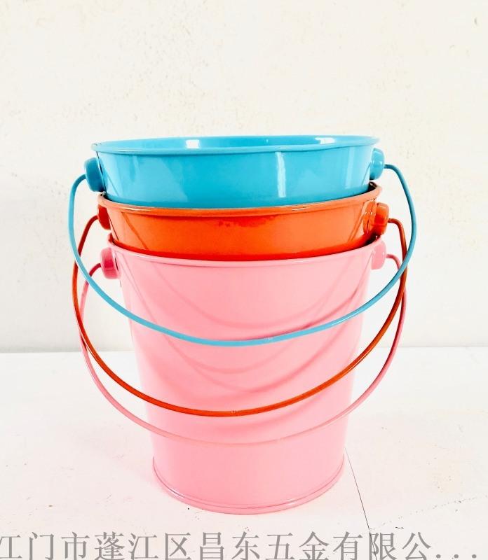 铁皮桶,糖果色铁皮小花桶 ,迷你装饰品花盆