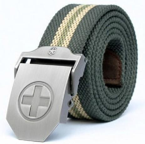 十字架锌合金自动扣男士腰带