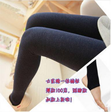 2014秋季精品薄款七彩棉打底裤,无缝打底裤,一体裤