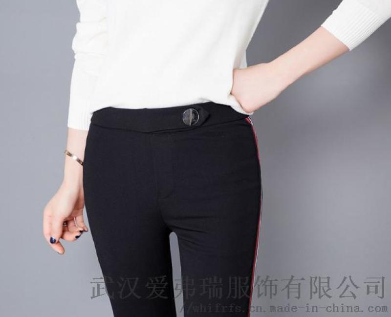 女装走份货源时尚轩18年冬装新款高腰鸭绒裤
