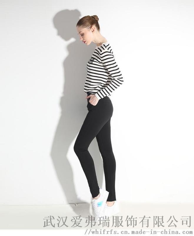 名品服装折扣店给彩冬装新款鸭绒裤女外穿