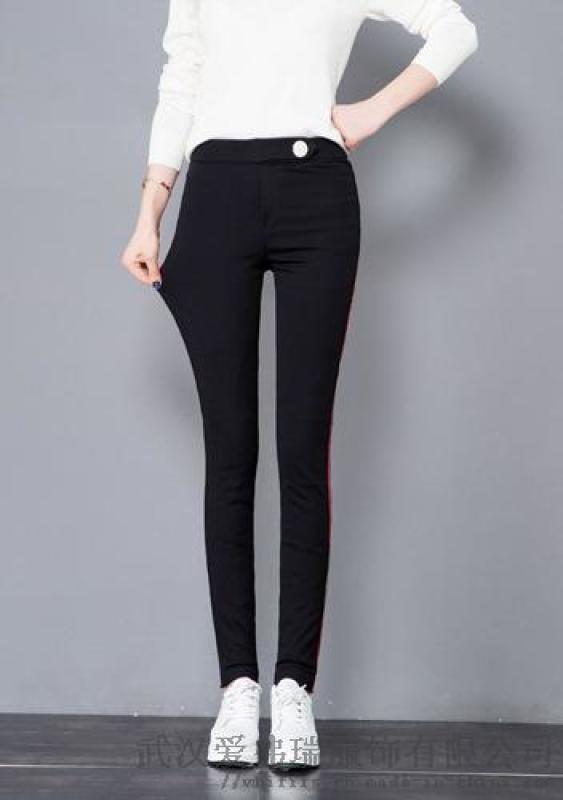 女装厂家走份网艾菲莎尔18年冬装新款高腰棉裤