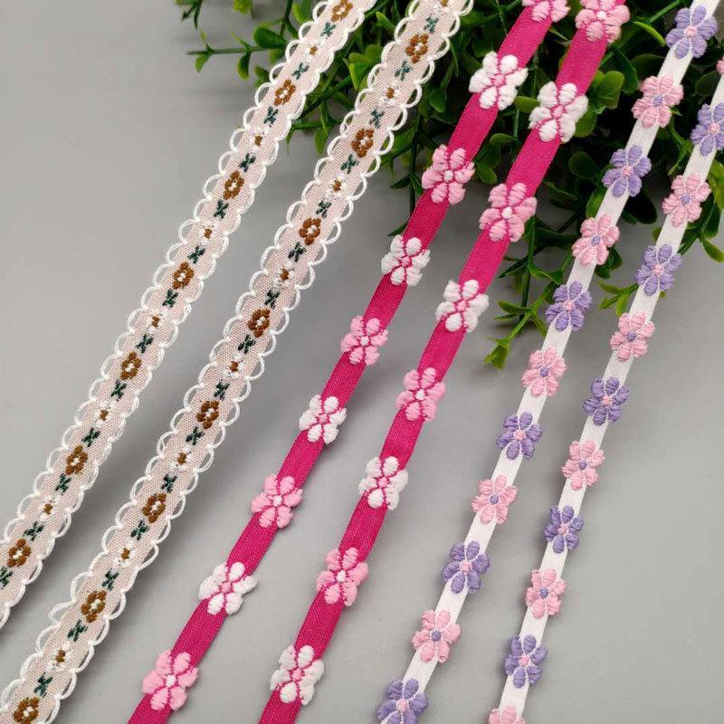 电脑提花织带民族风彩色提花织带服装服饰涤纶织带