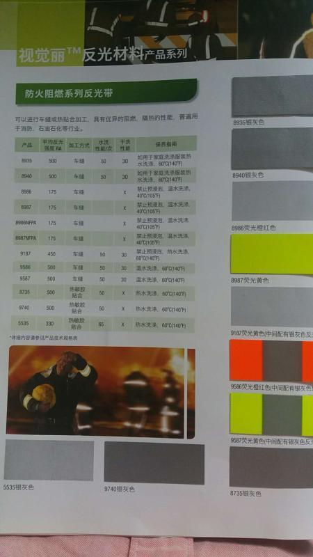 3M 9587#黄银黄消防阻燃反光带