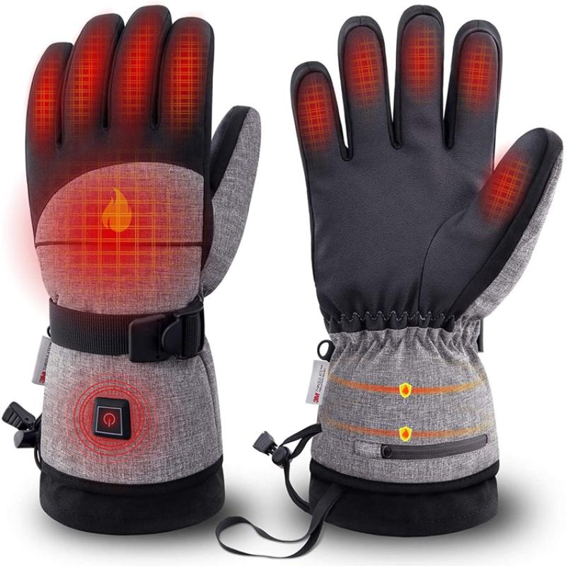 电加热手套摩托车可充电防水保暖手套男女冬天户外装备
