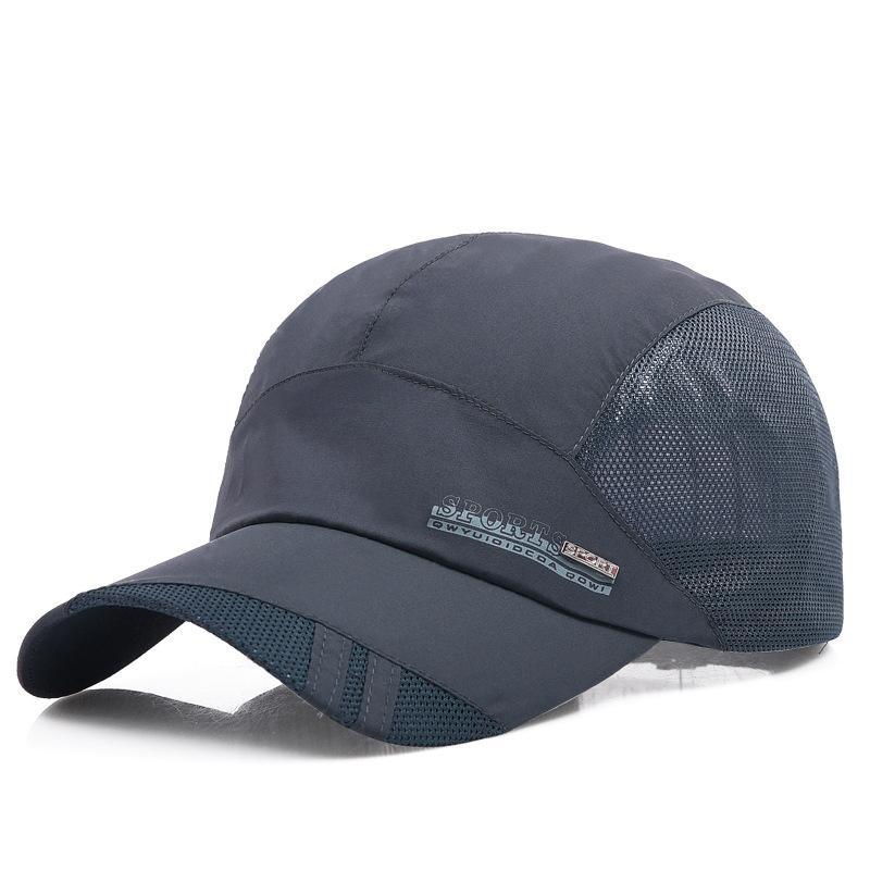 速干帽子男士夏天潮休闲网眼透气棒球帽中年遮阳太阳帽户外鸭舌帽
