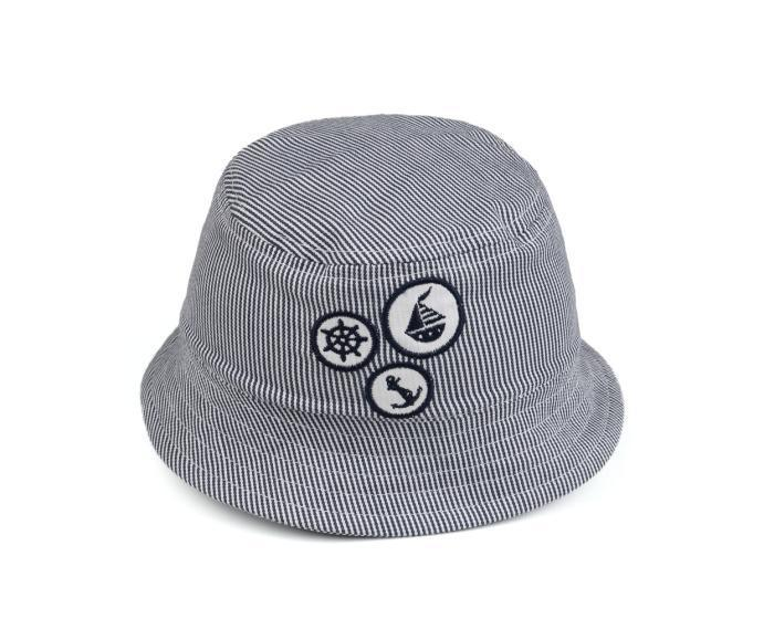 高普灰色遮阳儿童渔夫帽9C0283