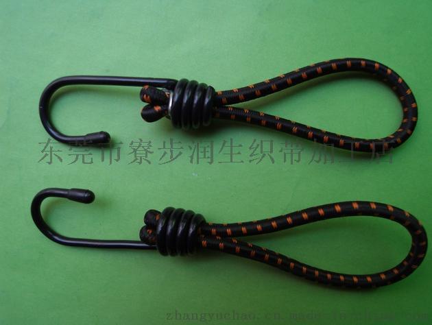 润生5.5mm*20cm单钩包进口胶丝强力行李绳捆绑绳绑带挂钩绳固定绳